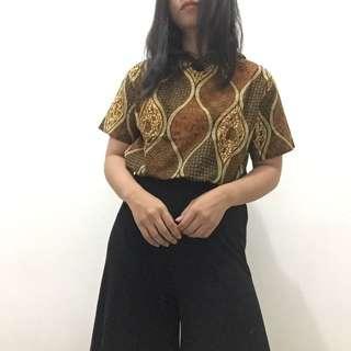 Batik Hoodie Top