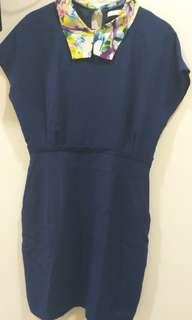 Minimal Navy Dress