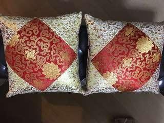 結婚跪墊 喜慶咕臣 2用 農曆新年 43cmX43cm 小枕頭