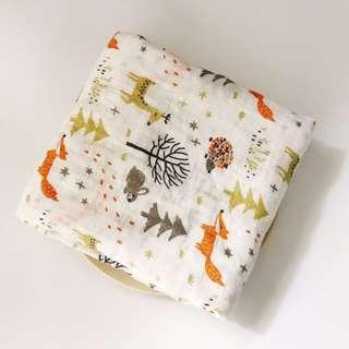 🚚 CH014 New Baby Infant Newborn Muslin Swaddle Cover Blanket Forest