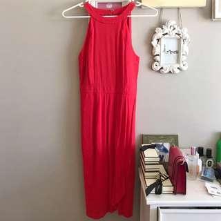 Brand new Cooper street coral red midi dress size 8