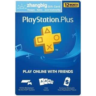 PS Plus Membership for US PSN [Digital Code]