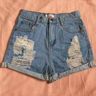 Fudge Rock Ripped Highwaist Shorts