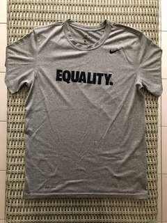 Nike💯% Authentic Dri-Fit grey 'Equality' t-shirt for SGD$23, size M