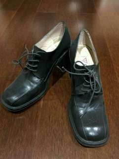 Gues Black Leather Oxford Shoes ori
