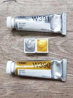 Holbein Gold and Silver Artist Grade Watercolour Paints
