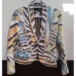 Authentic JUST CAVALLI by ROBERTO CAVALLI Tiger Print Blazer Made in Italy EU 44 (May fit L)
