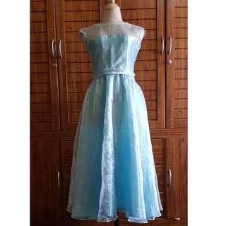 Flower girl gown in powder blue color