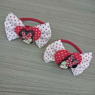 Official Disney Minnie Mouse hairclip and hairtie