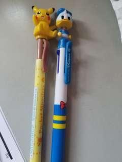 比卡超 唐老鴨 鉛芯筆 4色筆