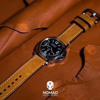 🚚 Premium M1 Vintage Leather Strap in Tan with Silver Buckle