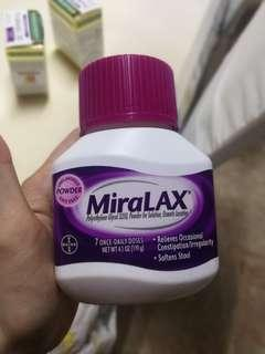 Miralax for constipation 7 days dose/ Miralax untuk konstipasi dosis 7 hari