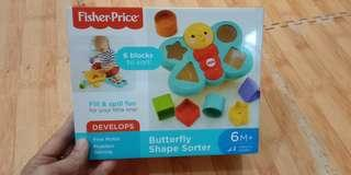 Mainan bayi butterfly shape fisher price