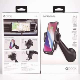 MOMAX Q.Dock 無線汽車充電支架 CM7A ,隨盒附送2.4A車充及1米USB線 香港行貨 原廠保用兩年,附單