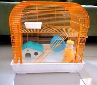 Complete high quality hamster cage and ball
