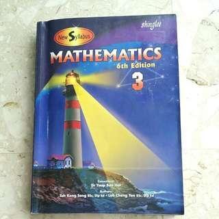 New Syllabus Mathematics 3 6th Edition