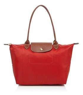 Longchamp Le Pliage Medium in Red