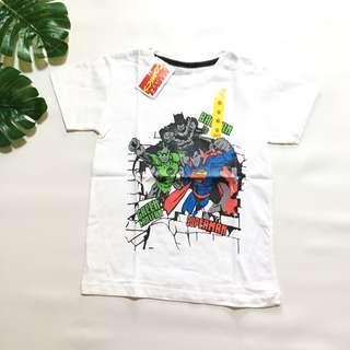 Kaos anak marvel superhero putih