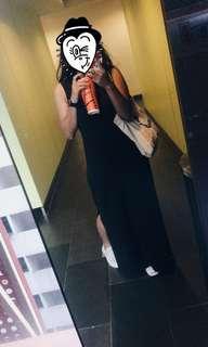 Long side slit dress