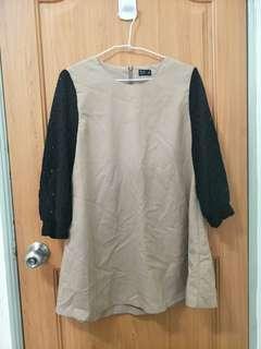 🚚 Net 袖子洞洞 短洋裝 長上衣 氣質 可愛