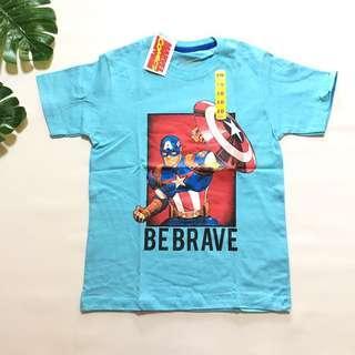 Kaos anak superhero marvel biru