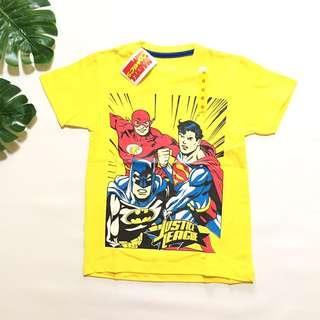 Kaos anak superhero marvel yellow