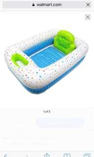 inflatable safety bathtub portable travel save space