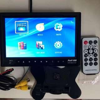 Car Van Lorry Truck 7 inch TFT LCD Monitor with Bluetooth/SD Card/USB - Option for Rear Reverse Camera