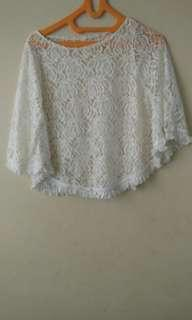 Lace batwing