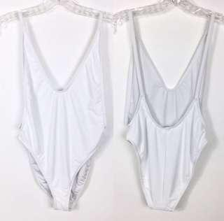 (Brand New) WHITE ONEPIECE SWIMSUIT
