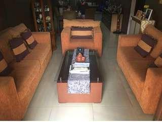 Sofa Set Orange