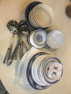 Mix bowl and plates