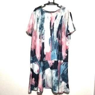 Authentic Mossimo Dye-Tie Flounce Dress XXL