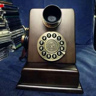 古董木製銅製家居電話 插線可用 9成新淨