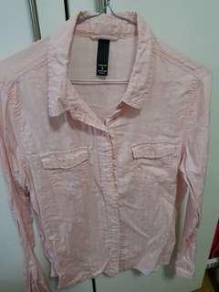 Factorie - Baby Pink Long-sleeved polo
