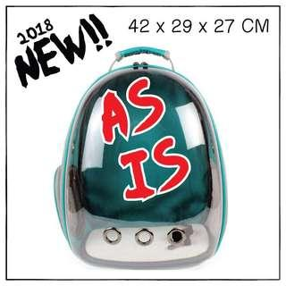 "ASIS ""Cyan"" Astronaut Helmet Cat Backpack Carrier"