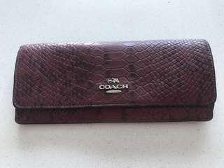 Authentic Coach Leather Embossed Long Wallet