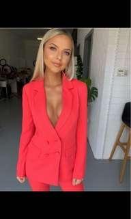 Rent / hire kookai valentine red suit