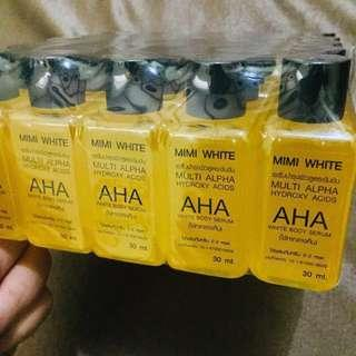 AUTHENTIC Mimi White AHA (whitening body serum) with Serial Code and Expiry Date