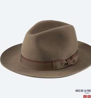 🚚 UNIQLO 深棕色100%羊毛禮帽