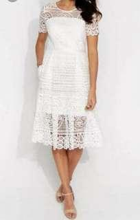 White portmans dress