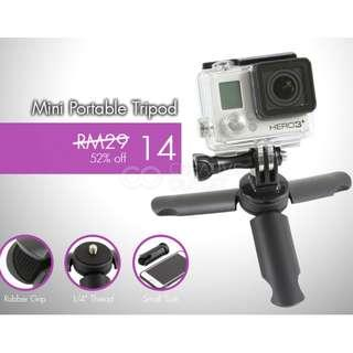 Mini Portable Tripod for any Action Camera or Mobile Phone