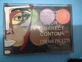 Color corrector & contur cream palette