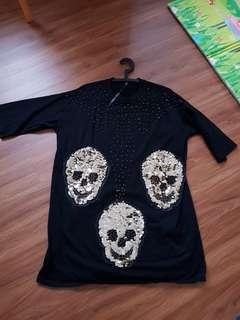 Skull t dress