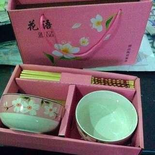 Chinese Rice Bowl And Chopsticks For 2