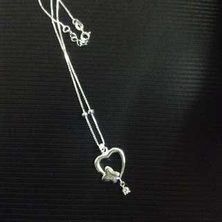 Genuine 925 Silver Heart Necklace