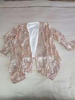 Sequin bling bling rose gold colour Cardigan or jacket
