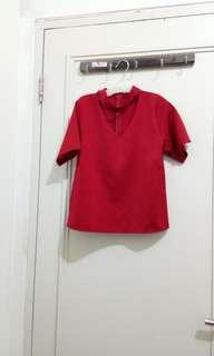 Blouse merah stylish