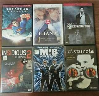 DVD lot of 6.
