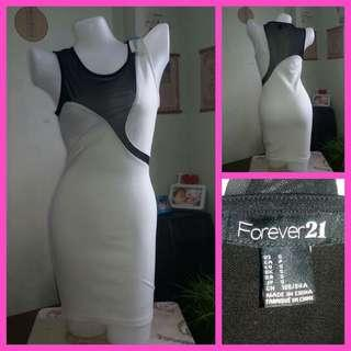 Forever 21 Sexy Neck Cutout Mesh Insert Bodycon